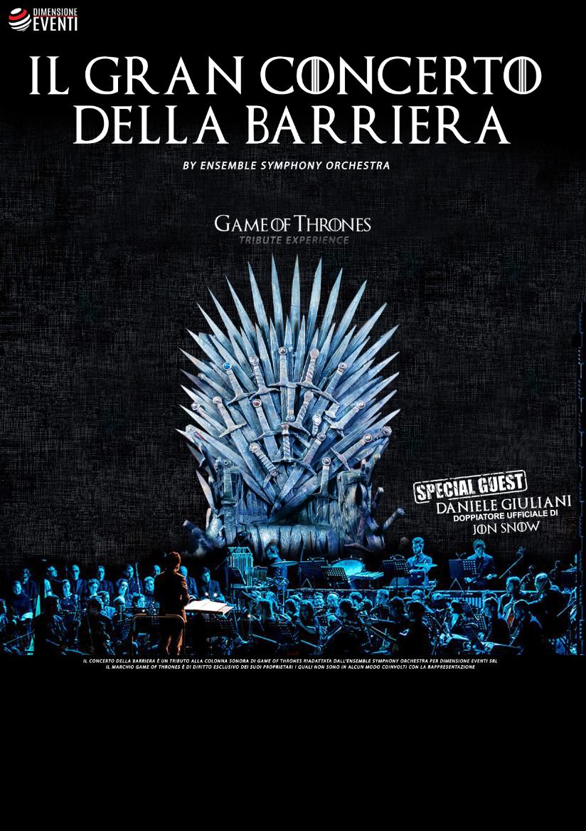 Belvedere di San Leucio (CE) – 13 Luglio 2019 – Il Gran Concerto della Barriera, Game of Thrones